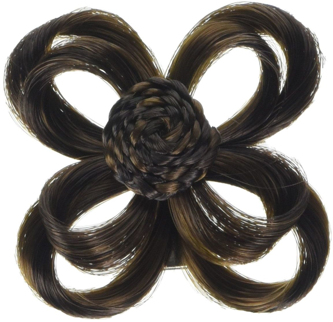 Love Hair Extensions Akcesoria do włosów z klipsem, kolor 2/4 mieszane ciemnobrązowe