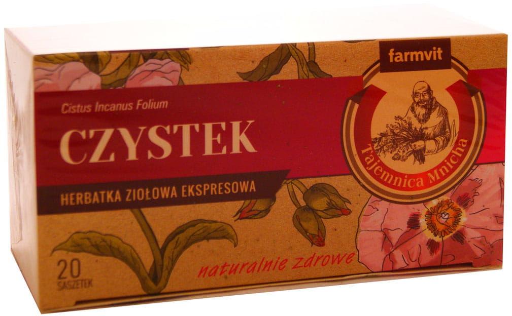 Czystek herbata ziołowa ekspresowa - Farmvit - 20sasz