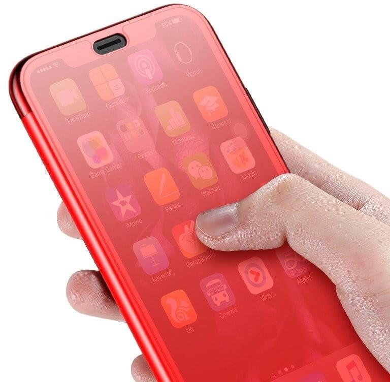 Etui dotykowe z klapką Baseus Touchable Case do iPhone XR (czerwone)