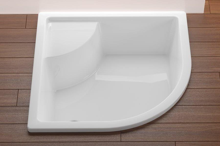 Ravak Sabina głęboki brodzik akrylowy z siedziskiem, miniwanna 90x90 cm GPX11004