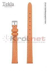 Pasek TK033POM/14 - pomarańczowy, imitacja skóry jaszczurki