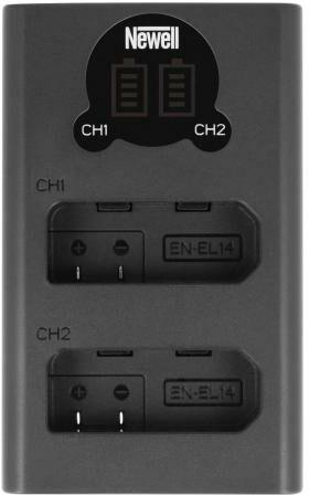 Newell Ładowarka dwukanałowa DL-USB-C do akumulatorów EN-EL14