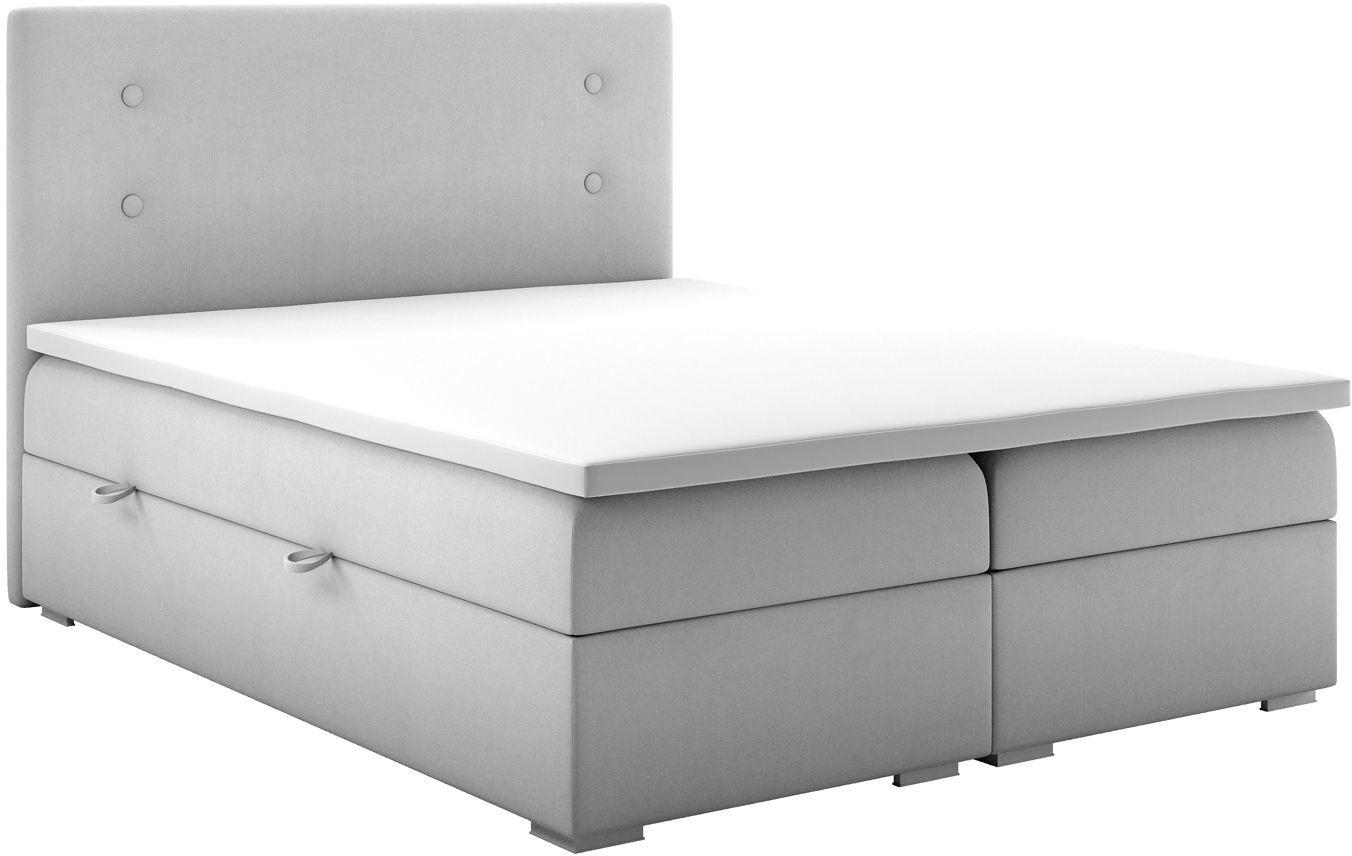 Podwójne łóżko boxspring Rilla 140x200 - 58 kolorów