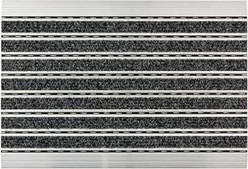 ASTRA Wycieraczka  antracytowa  rama aluminiowa  bardzo wytrzymała mata  drobna lub gruba struktura  mata zatrzymująca brud  czyszczenie  60 x 40 x 1 cm
