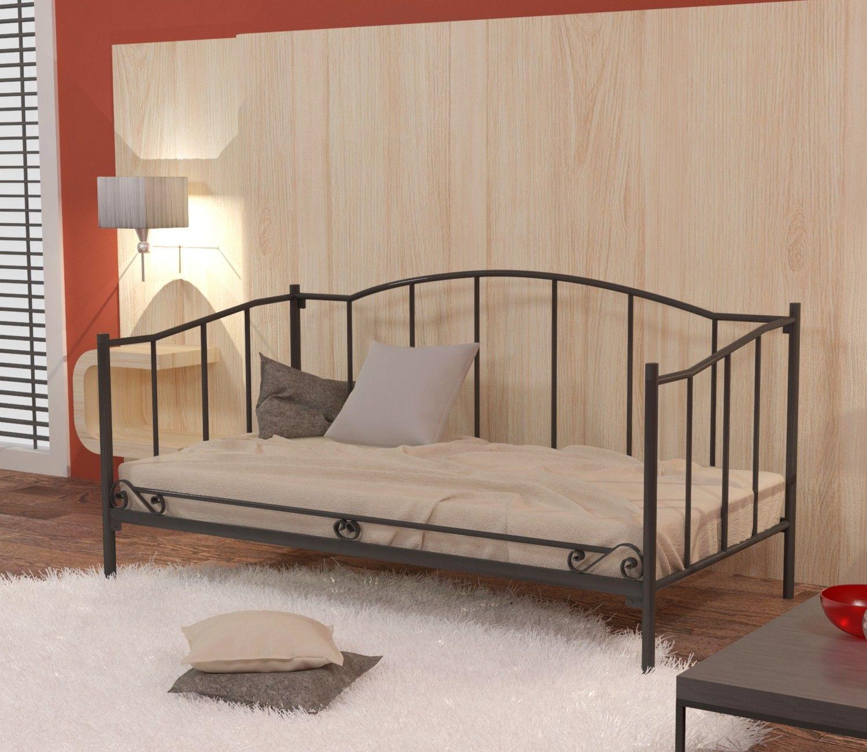 Łóżko metalowe sofa 80x190 wzór 18 ze stelażem