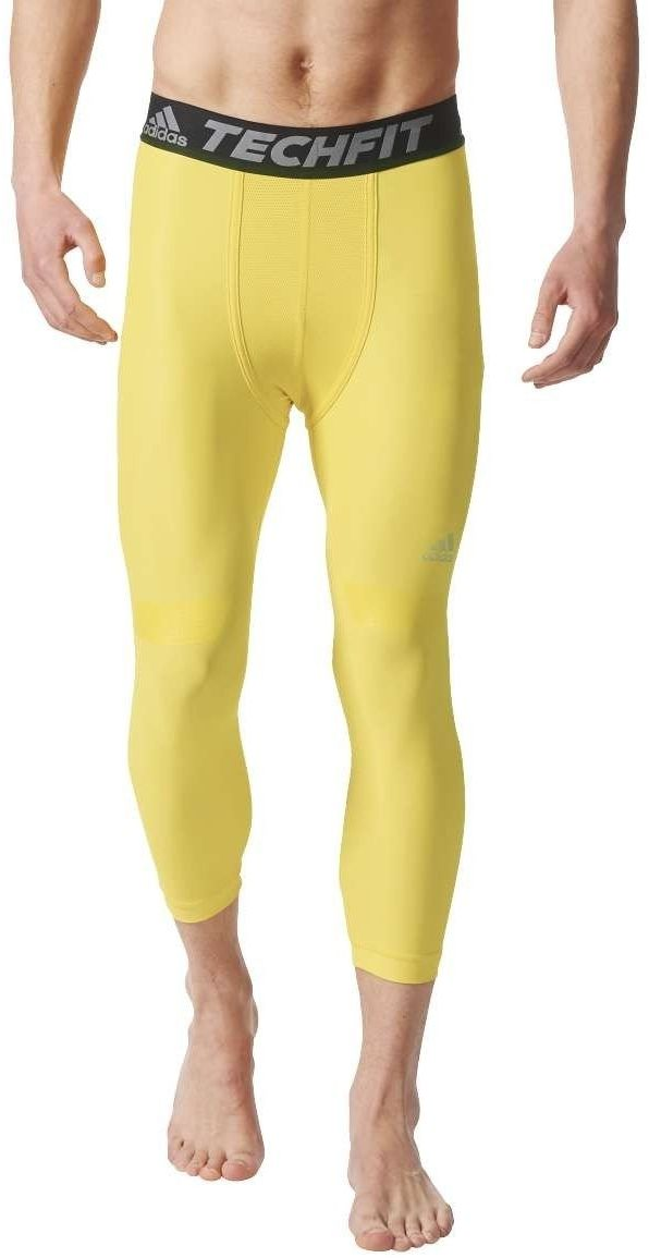 adidas męskie rajstopy Tf Chill 3/4 przycięte Yellow/Eqtama XS
