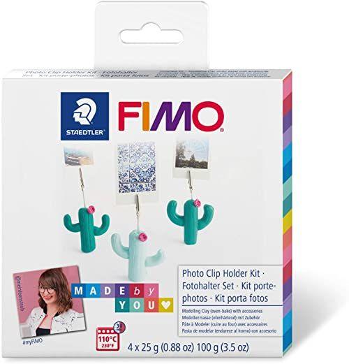"""STAEDTLER FIMO Soft""""Kaktus Fotohalter"""" zestaw""""zrób to sam"""" z instrukcją i akcesoriami, masa modelarska utwardzana w piekarniku do kreatywnych obiektów Made by You, 8025 DIY1"""