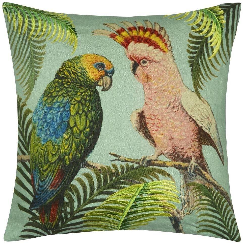 Poduszka dekoracyjna John Derian Parrot and Palm Azure