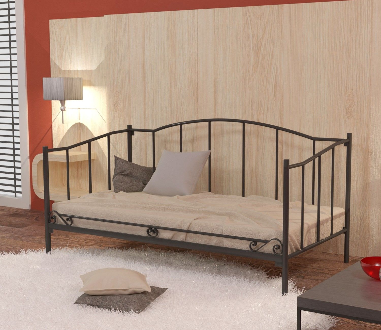 Łóżko metalowe sofa 90x180 wzór 18 ze stelażem