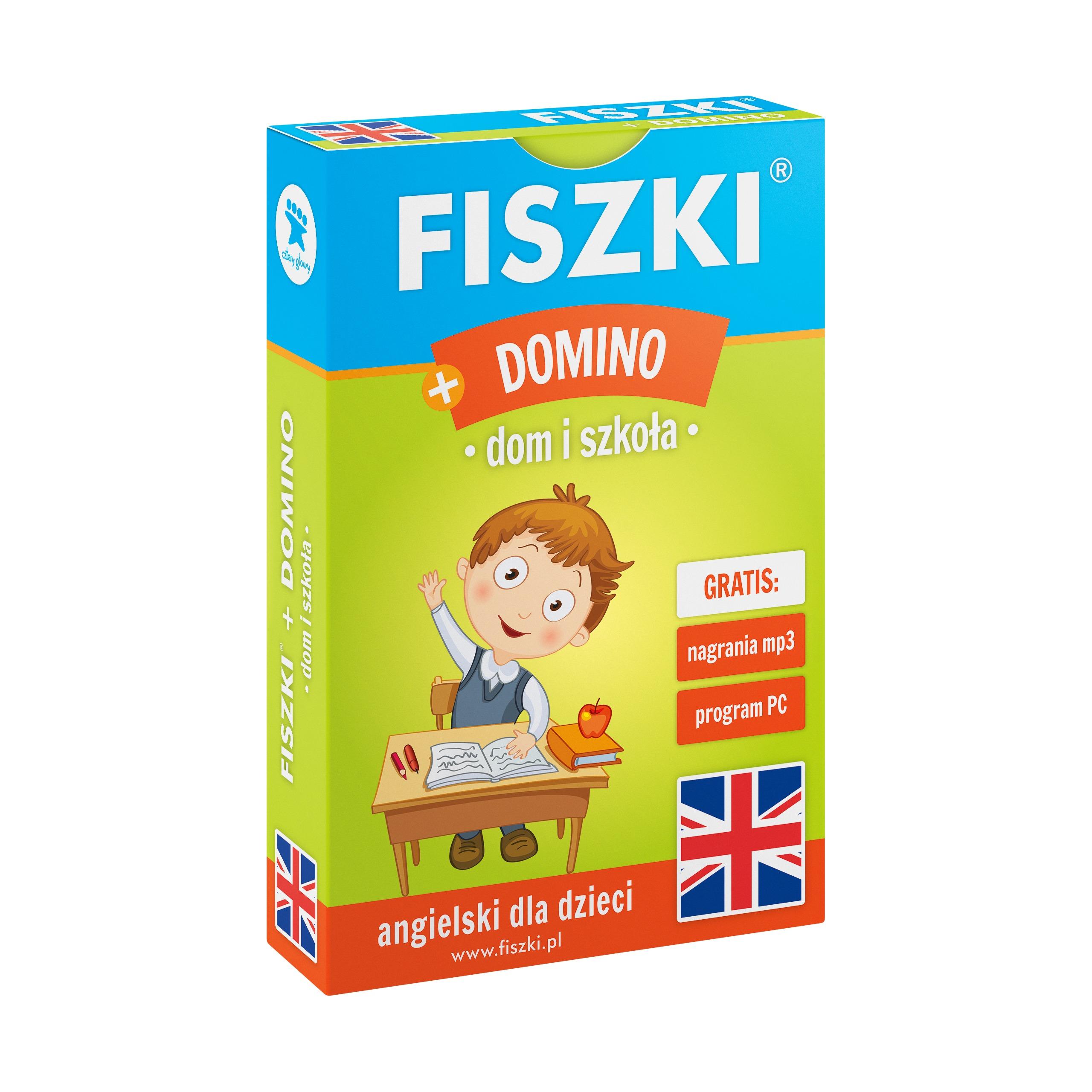 DOMINO - gra edukacyjna + FISZKI - angielski