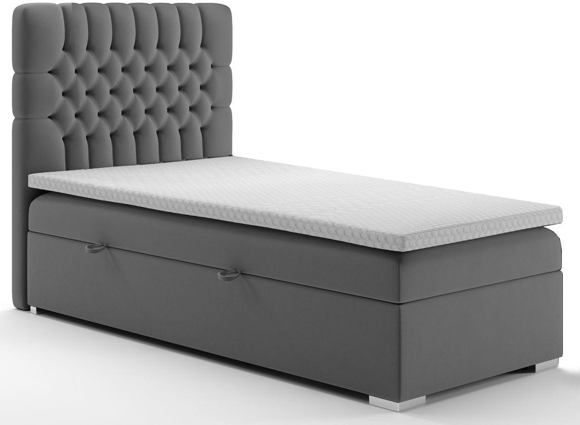 Pojedyncze łóżko boxspring Stilla 90x200 - 58 kolorów