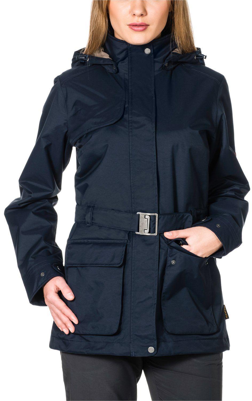 Jack Wolfskin Damska kurtka chroniąca przed warunkami atmosferycznymi Kimberley Parka, Night Blue, L
