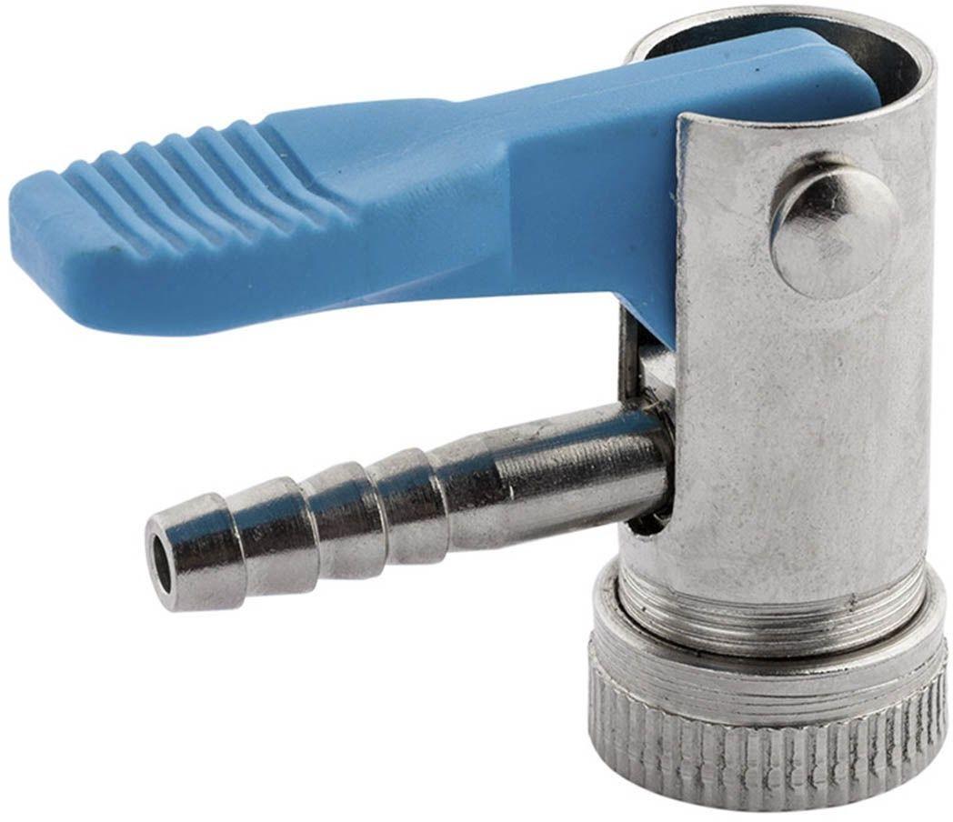 Końcówka do pompowania 6mm z niebieskim zaciskiem - nypel 6 mm