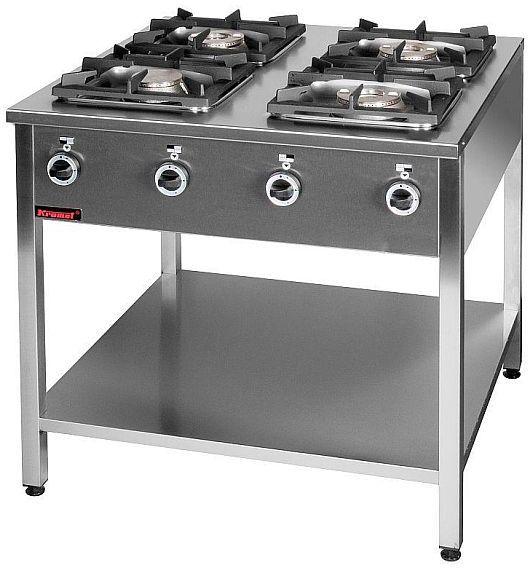 Kuchnia gastronomiczna gazowa 4-palnikowa KROMET 000.KG-4L