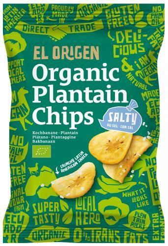 Chipsy z plantana solone bezglutenowe BIO 80g - El origen