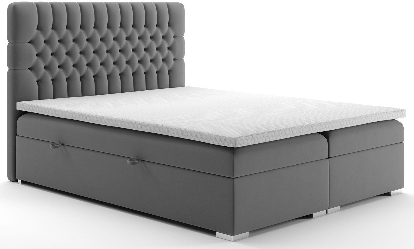 Małżeńskie łóżko boxspring Stilla 160x200 - 58 kolorów