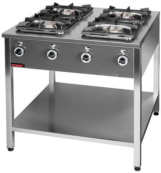 Kuchnia gastronomiczna gazowa 4-palnikowa KROMET 000.KG-4M