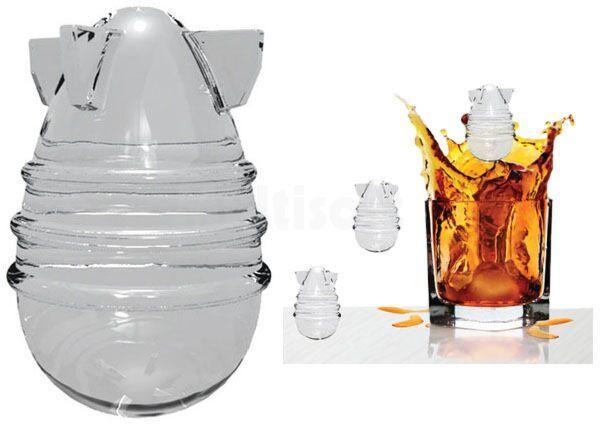 Foremki na lód w kształcie bomb