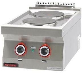 Kuchnia gastronomiczna elektryczna 2-płytowa KROMET 700.KE-2