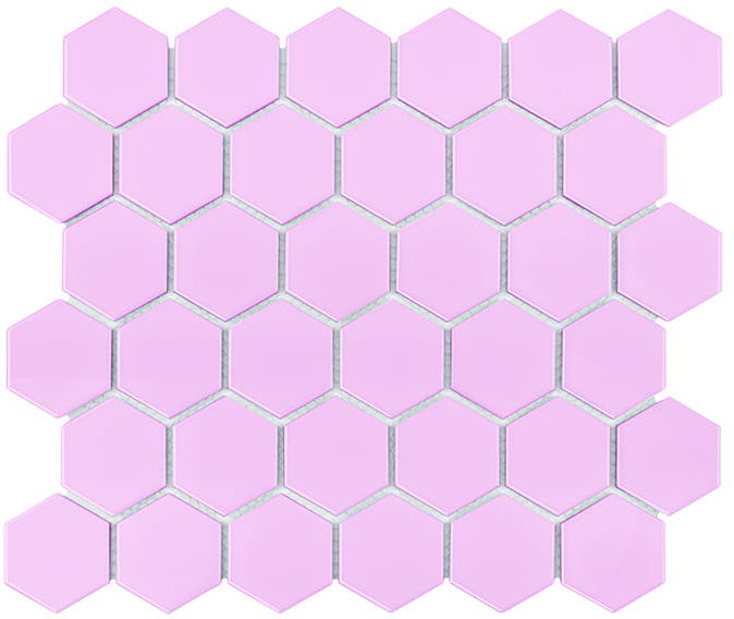 DUNIN mozaika ceramiczna, gresowa Hexagon Peony 51 Matt różowa