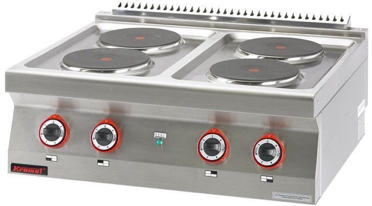 Kuchnia gastronomiczna elektryczna 4-płytowa KROMET 700.KE-4