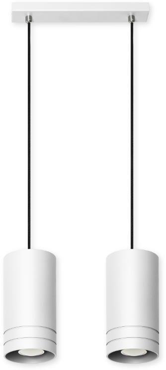 Lampa wisząca z dwoma kloszami E553-Simox - biały