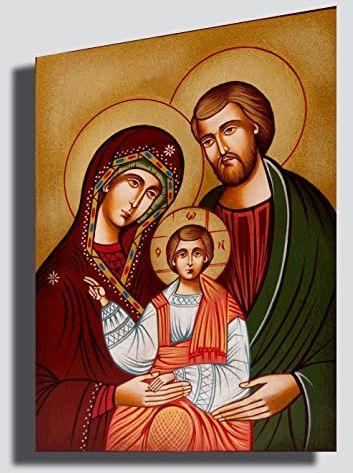Obraz Święta Rodzina 30 x 50 cm Gesus Madonna San Josef Native - reprodukcja, druk na płótnie, nowoczesna sztuka abstrakcyjna, kuchnia, salon, sypialnia