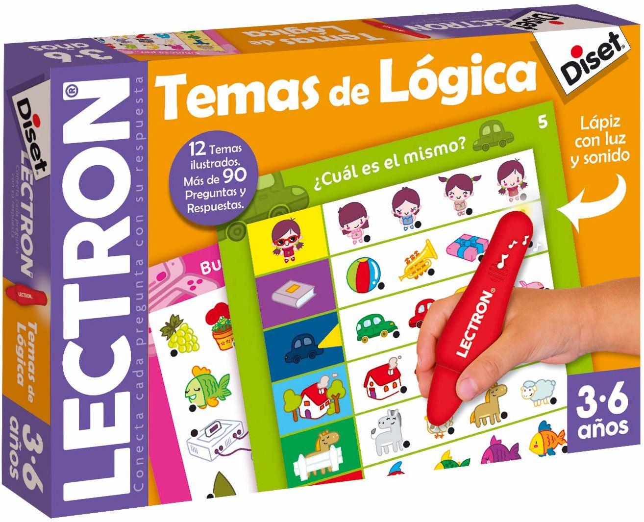 Diset 63882 Lectron Lapiz Temas de Lógica hiszpański język gra edukacyjna