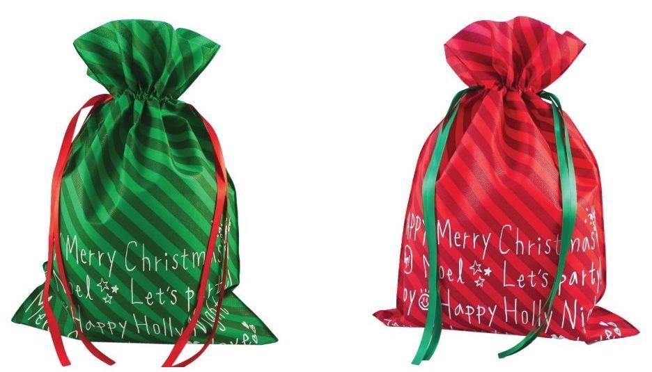 Viscio Trading 177949 torba Wesołych Świąt, tkanina, wielokolorowa, 0,5 x 20 x 30 cm