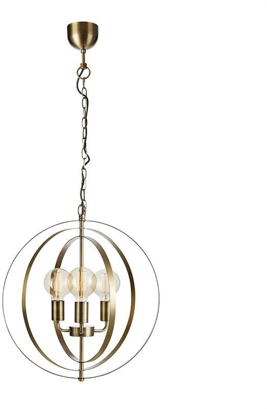 Lampa wisząca Orbit 107941 Markslojd mosiężna oprawa sufitowa w klasycznym stylu