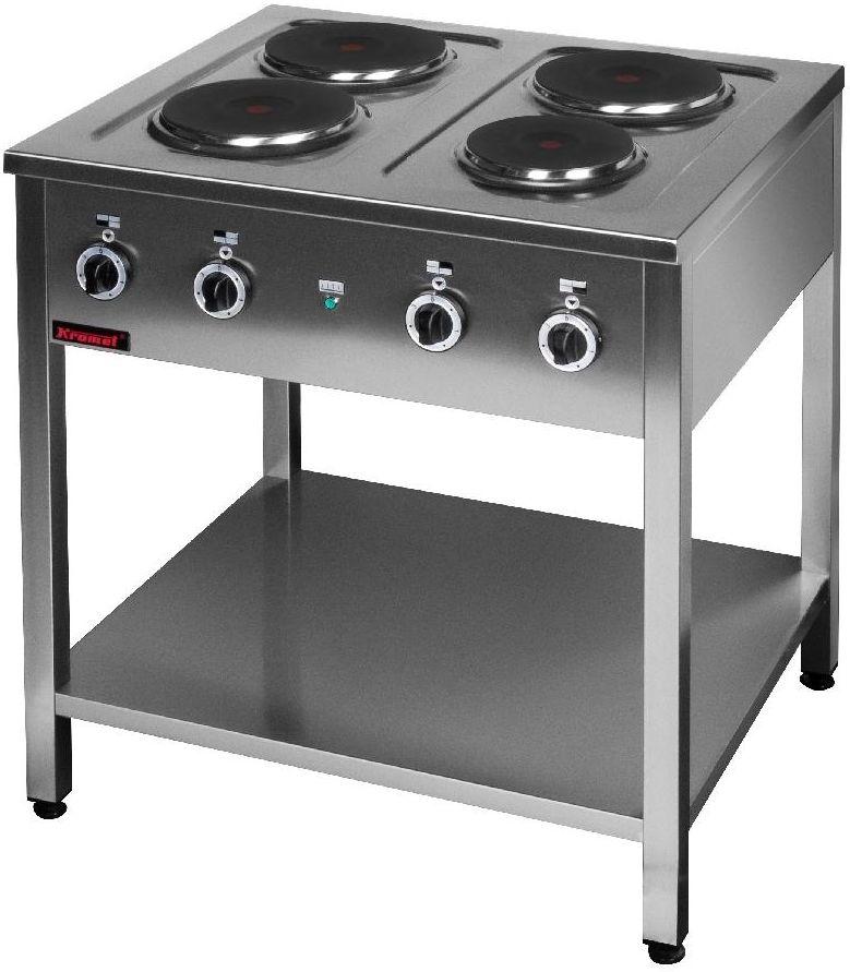 Kuchnia gastronomiczna elektryczna 4-płytowa KROMET 000.KE-4M