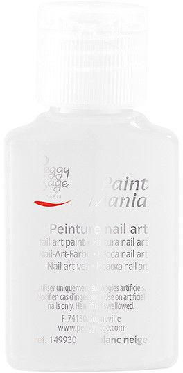 PEGGY SAGE - Lakier nail art Paint mania blanc neige 25ml - ( ref. 149930)