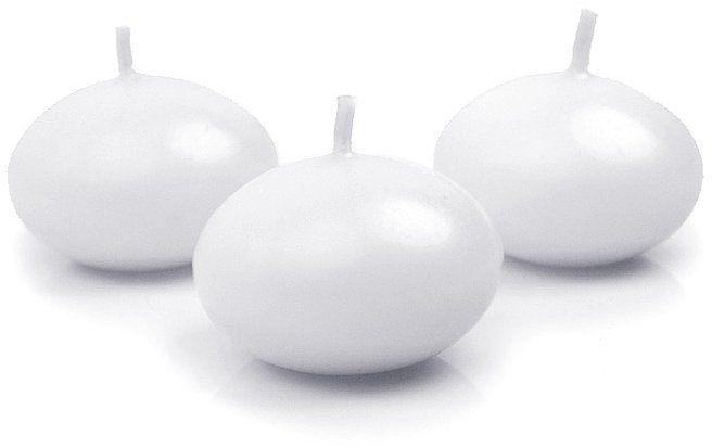 Świece pływające matowe białe 4cm 50 sztuk SDMAT40-008-50x