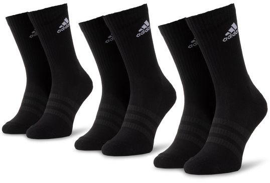 adidas Zestaw 3 par wysokich skarpet męskich Cush Crw 3Pp DZ9357 Czarny