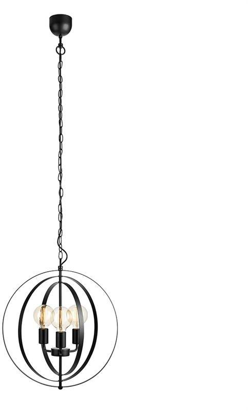 Lampa wisząca Orbit 107942 Markslojd czarna oprawa sufitowa w klasycznym stylu