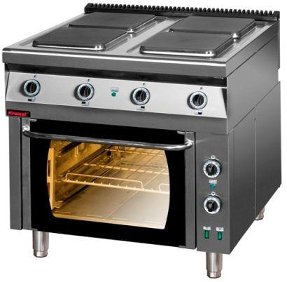 Kuchnia gastronomiczna elektryczna 4-płytowa KROMET 900.KE-4PE/1T