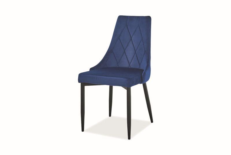 Krzesło TRIX B VELVET granatowe