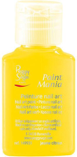 PEGGY SAGE - Lakier nail art Paint mania jaune citron 25ml - ( ref. 149931)