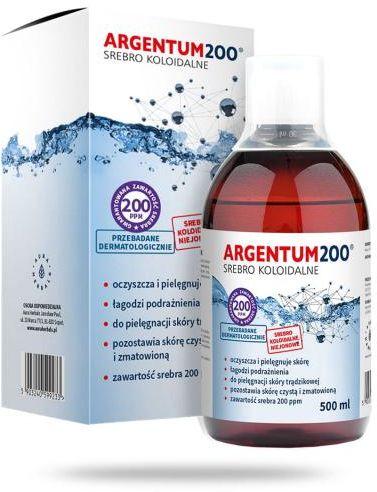 Aura Herbals Argentum200 Srebro Koloidalne 200 ppm tonik 500 ml