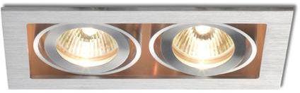 Lampa do zabudowania K/G FIZZ II kierunkowa aluminium szczotkowane 12V GU 5,3 2x50W R10147  RedLux - Autoryzowany dystrybutor REDLUX