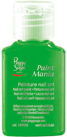 PEGGY SAGE - Lakier nail art Paint mania vert acidulé 25ml - ( ref. 149935)