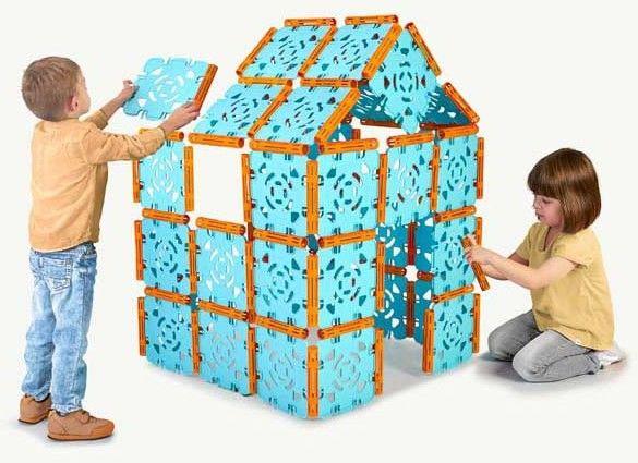 FEBER Klocki Budowniczego konstrukcyjne 132 elementy