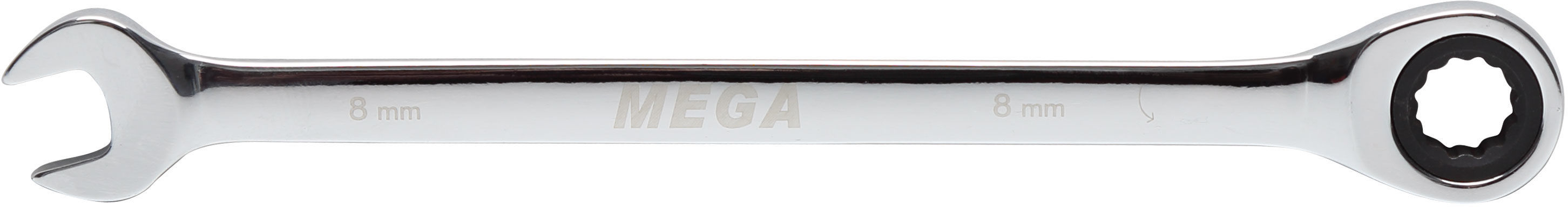 Klucz oczkowo-płaski z grzechotką, 8mm
