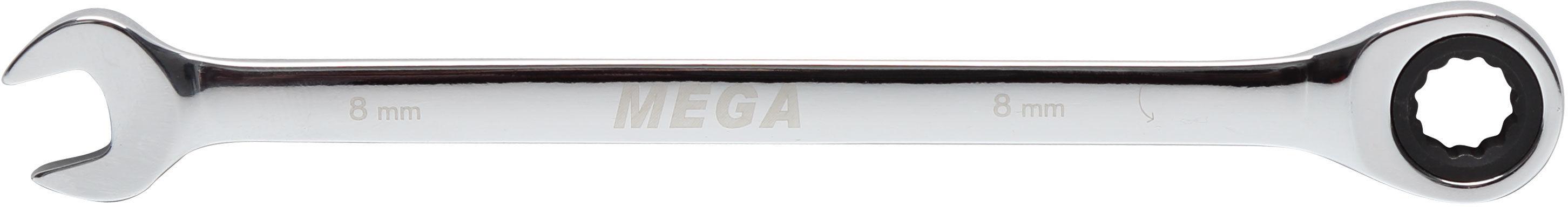 Klucz oczkowo-płaski z grzechotką, 9mm