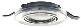 Lampa do zabudowania K/G MIRROLA okrągła kierunkowa przezroczysta/lustrzana 230V GU10 50W R10279 - RedLux - Autoryzowany dystrybutor REDLUX