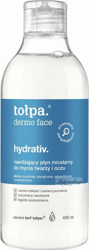 Tołpa - Dermo Face Hydrativ - Nawilżający płyn micelarny do mycia twarzy i oczu - 400 ml