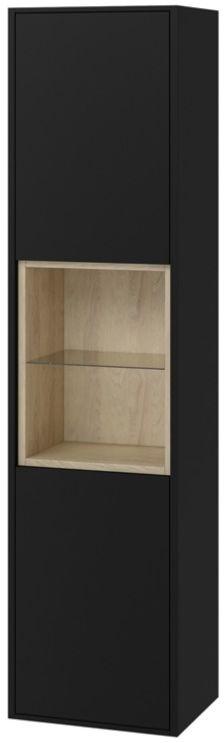 Excellent Tuto szafka boczna wysoka 40x160x32cm czarny mat/dąb MLEX.0201.400.BKBL