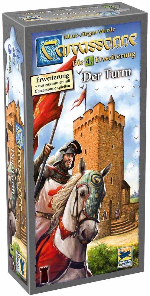 Asmodee DE HIGD0104 Carcassonne - Wieża - 4. rozszerzenie, gra rodzinna, niemiecki