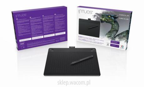 Tablet graficzny Wacom Intuos 3D M (A5) CTH-690TK czarny + ZBrushCore  + kurs obsługi PL
