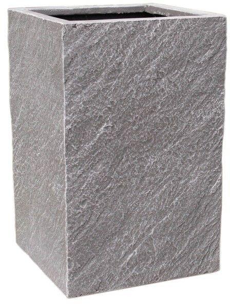 Donica kompozytowa Cermax kwadratowa 24 x 24 x 38 cm ciemny grafit